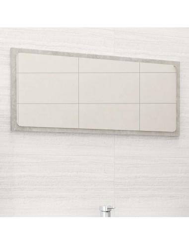 Vonios kambario veidrodis, betono pilkas, 80x1,5x37cm, MDP | Vonios Spintelės | duodu.lt