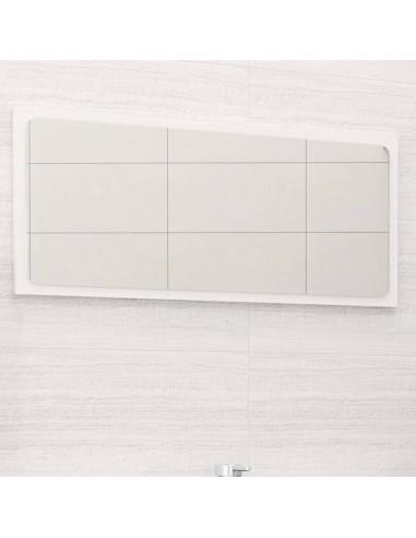 Vonios kambario veidrodis, baltas, 80x1,5x37cm, MDP, blizgus | Vonios Spintelės | duodu.lt