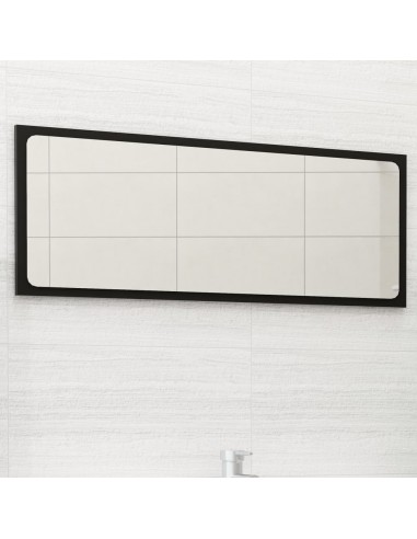Vonios kambario veidrodis, juodos spalvos, 90x1,5x37cm, MDP | Vonios Spintelės | duodu.lt