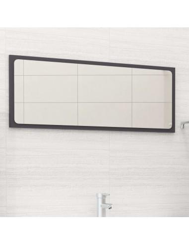 Vonios kambario veidrodis, pilkos spalvos, 90x1,5x37cm, MDP   Vonios Spintelės   duodu.lt