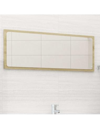Vonios kambario veidrodis, ąžuolo spalvos, 90x1,5x37cm, MDP   Vonios Spintelės   duodu.lt