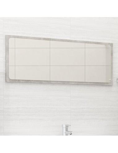 Vonios kambario veidrodis, betono pilkas, 90x1,5x37cm, MDP | Vonios Spintelės | duodu.lt