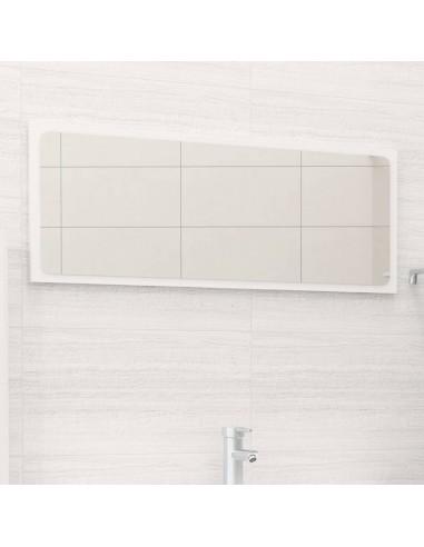 Vonios kambario veidrodis, baltas, 90x1,5x37cm, MDP, blizgus | Vonios Spintelės | duodu.lt