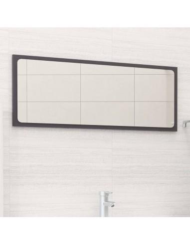 Vonios kambario veidrodis, pilkas, 90x1,5x37cm, MDP, blizgus | Vonios Spintelės | duodu.lt