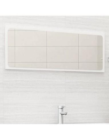 Vonios kambario veidrodis, baltos spalvos, 100x1,5x37cm, MDP | Vonios Spintelės | duodu.lt
