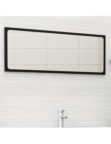 Vonios kambario veidrodis, juodos spalvos, 100x1,5x37cm, MDP   Vonios Spintelės   duodu.lt