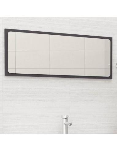 Vonios kambario veidrodis, pilkos spalvos, 100x1,5x37cm, MDP | Vonios Spintelės | duodu.lt