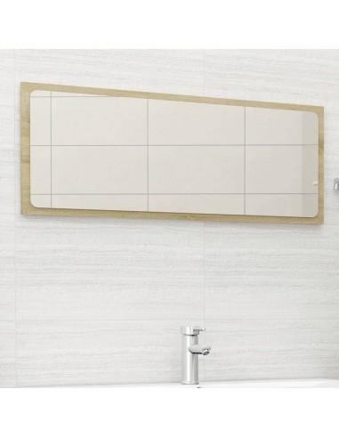 Vonios kambario veidrodis, ąžuolo spalvos, 100x1,5x37cm, MDP | Vonios Spintelės | duodu.lt