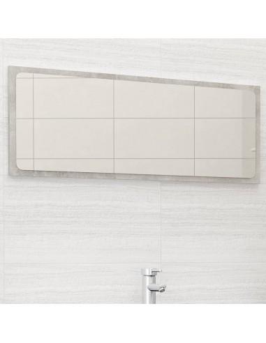 Vonios kambario veidrodis, betono pilkas, 100x1,5x37cm, MDP   Vonios Spintelės   duodu.lt