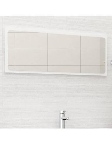 Vonios kambario veidrodis, baltas, 100x1,5x37cm, MDP, blizgus   Vonios Spintelės   duodu.lt