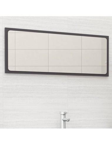 Vonios kambario veidrodis, pilkas, 100x1,5x37cm, MDP, blizgus   Vonios Spintelės   duodu.lt