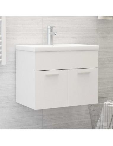 Spintelė praustuvui, baltos spalvos, 60x38,5x46cm, MDP   Vonios baldų komplektai   duodu.lt