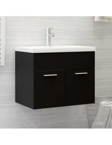 Spintelė praustuvui, juodos spalvos, 60x38,5x46cm, MDP | Vonios baldų komplektai | duodu.lt