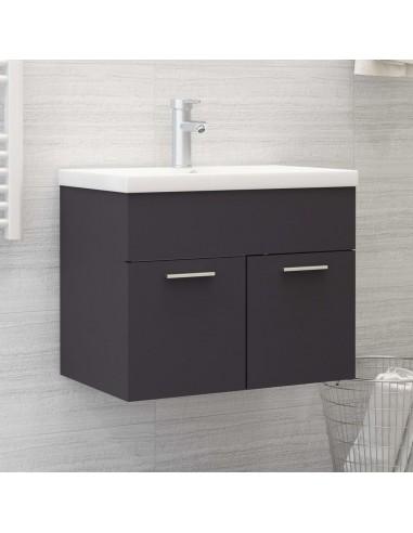 Spintelė praustuvui, pilkos spalvos, 60x38,5x46cm, MDP | Vonios baldų komplektai | duodu.lt
