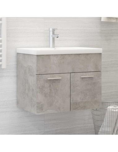 Spintelė praustuvui, betono pilkos spalvos, 60x38,5x46cm, MDP | Vonios baldų komplektai | duodu.lt