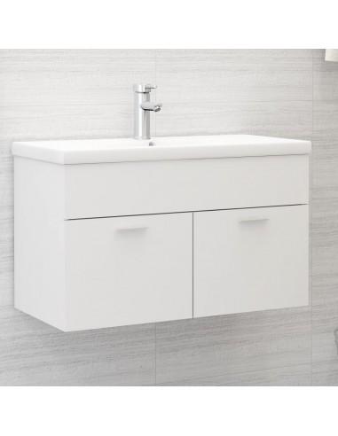 Spintelė praustuvui, baltos spalvos, 80x38,5x46cm, MDP | Vonios baldų komplektai | duodu.lt