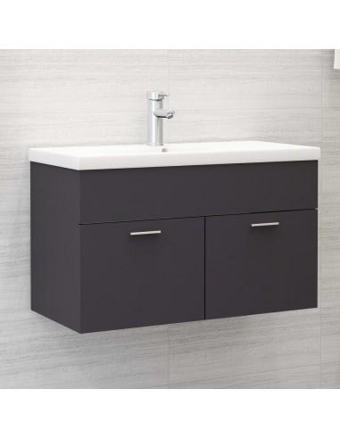 Spintelė praustuvui, pilkos spalvos, 80x38,5x46cm, MDP   Vonios baldų komplektai   duodu.lt