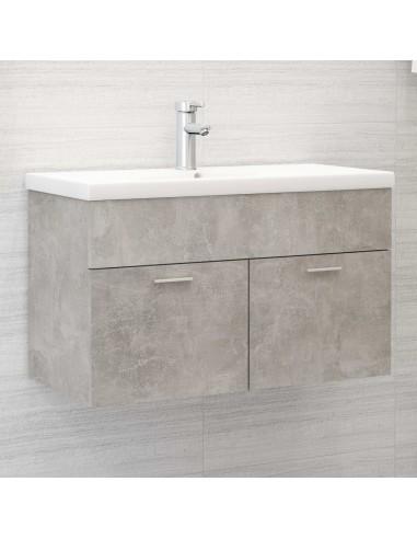 Spintelė praustuvui, betono pilkos spalvos, 80x38,5x46cm, MDP | Vonios baldų komplektai | duodu.lt