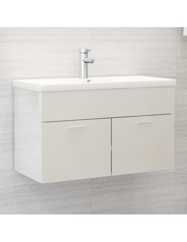 Spintelė praustuvui, balta, 80x38,5x46cm, MDP, ypač blizgi   Vonios baldų komplektai   duodu.lt