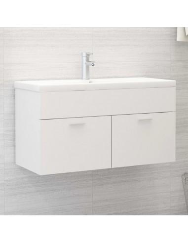 Spintelė praustuvui, baltos spalvos, 90x38,5x46cm, MDP   Vonios baldų komplektai   duodu.lt