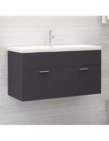 Spintelė praustuvui, pilkos spalvos, 90x38,5x46cm, MDP | Vonios baldų komplektai | duodu.lt