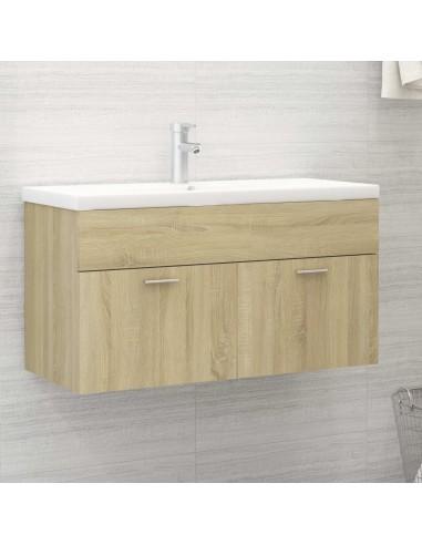 Spintelė praustuvui, ąžuolo spalvos, 90x38,5x46cm, MDP   Vonios baldų komplektai   duodu.lt