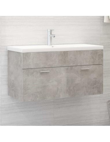 Spintelė praustuvui, betono pilkos spalvos, 90x38,5x46cm, MDP | Vonios baldų komplektai | duodu.lt