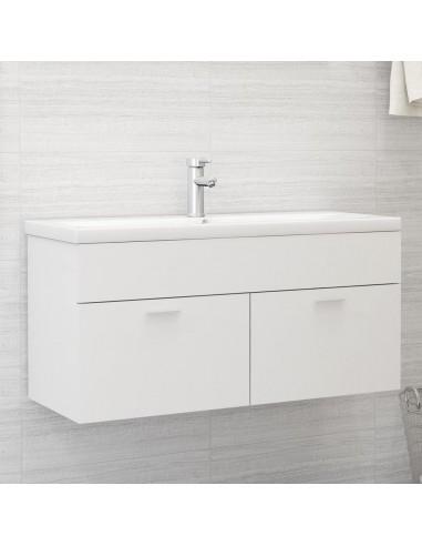 Spintelė praustuvui, baltos spalvos, 100x38,5x46cm, MDP   Vonios baldų komplektai   duodu.lt