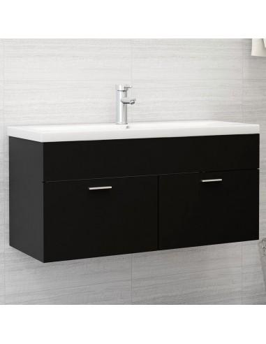 Spintelė praustuvui, juodos spalvos, 100x38,5x46cm, MDP   Vonios baldų komplektai   duodu.lt