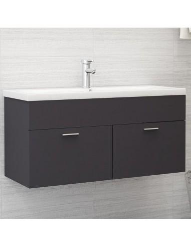Spintelė praustuvui, pilkos spalvos, 100x38,5x46cm, MDP | Vonios baldų komplektai | duodu.lt