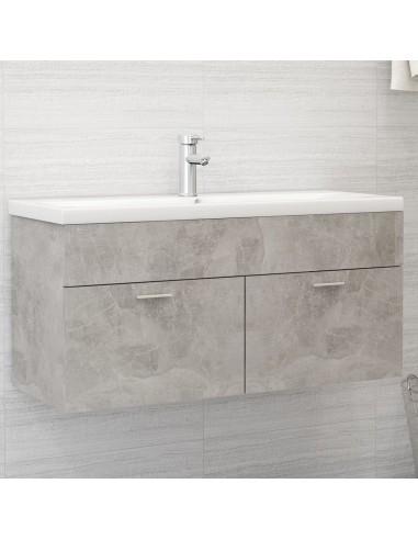 Spintelė praustuvui, betono pilkos spalvos, 100x38,5x46cm, MDP | Vonios baldų komplektai | duodu.lt