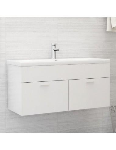 Spintelė praustuvui, balta, 100x38,5x46cm, MDP, ypač blizgi   Vonios baldų komplektai   duodu.lt