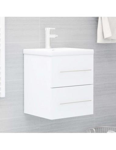 Spintelė praustuvui, baltos spalvos, 41x38,5x48cm, MDP | Vonios baldų komplektai | duodu.lt