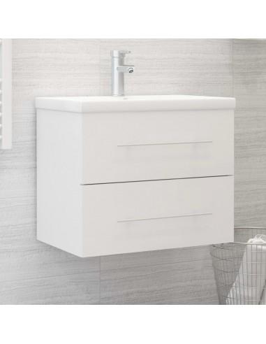 Spintelė praustuvui, baltos spalvos, 60x38,5x48cm, MDP | Vonios baldų komplektai | duodu.lt