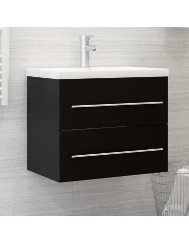 Spintelė praustuvui, juodos spalvos, 60x38,5x48cm, MDP   Vonios baldų komplektai   duodu.lt