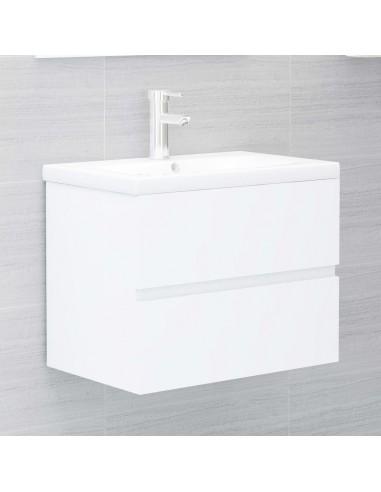 Spintelė praustuvui, baltos spalvos, 60x38,5x45cm, MDP   Vonios baldų komplektai   duodu.lt