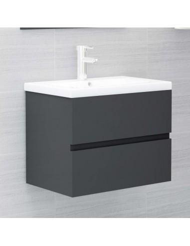 Spintelė praustuvui, pilkos spalvos, 60x38,5x45cm, MDP   Vonios baldų komplektai   duodu.lt