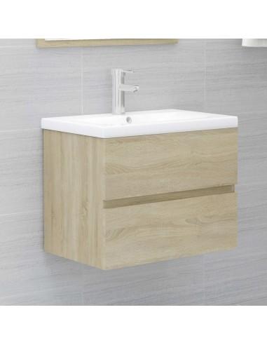 Spintelė praustuvui, sonoma ąžuolo spalvos, 60x38,5x45cm, MDP | Vonios baldų komplektai | duodu.lt