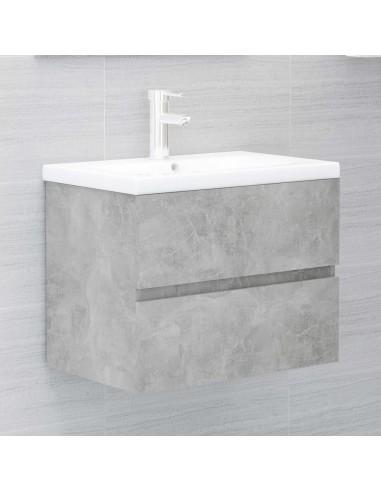 Spintelė praustuvui, betono pilkos spalvos, 60x38,5x45cm, MDP | Vonios baldų komplektai | duodu.lt