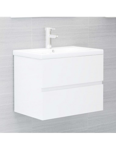 Spintelė praustuvui, balta, 60x38,5x45cm, MDP, ypač blizgi | Vonios baldų komplektai | duodu.lt
