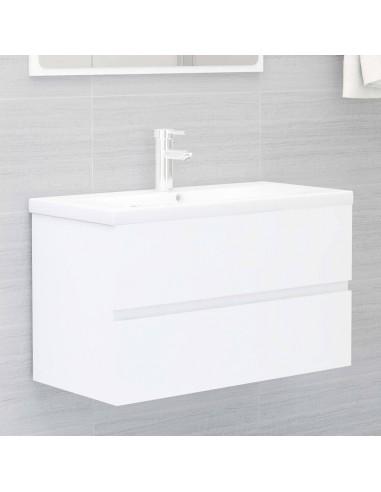 Spintelė praustuvui, baltos spalvos, 80x38,5x45cm, MDP | Vonios baldų komplektai | duodu.lt