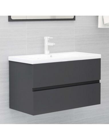Spintelė praustuvui, pilkos spalvos, 80x38,5x45cm, MDP   Vonios baldų komplektai   duodu.lt