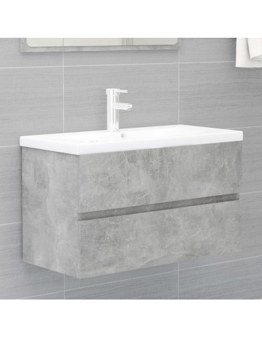 Spintelė praustuvui, betono pilkos spalvos, 80x38,5x45cm, MDP   Vonios baldų komplektai   duodu.lt