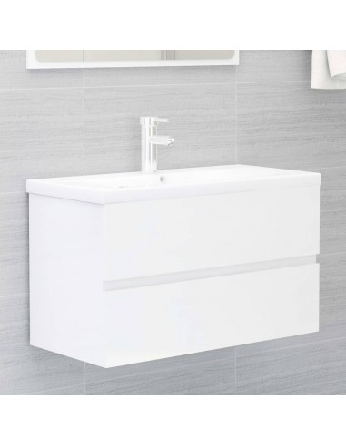 Spintelė praustuvui, balta, 80x38,5x45cm, MDP, ypač blizgi | Vonios baldų komplektai | duodu.lt