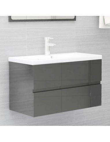 Spintelė praustuvui, pilka, 80x38,5x45cm, MDP, ypač blizgi   Vonios baldų komplektai   duodu.lt