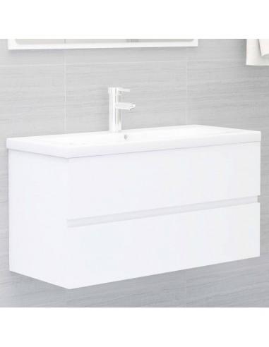 Spintelė praustuvui, baltos spalvos, 90x38,5x45cm, MDP | Vonios baldų komplektai | duodu.lt