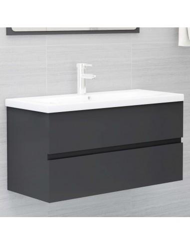 Spintelė praustuvui, pilkos spalvos, 90x38,5x45cm, MDP | Vonios baldų komplektai | duodu.lt