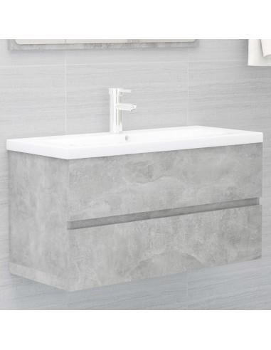 Spintelė praustuvui, betono pilkos spalvos, 90x38,5x45cm, MDP | Vonios baldų komplektai | duodu.lt