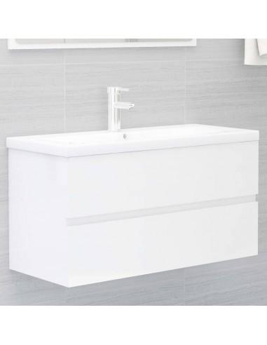 Spintelė praustuvui, balta, 90x38,5x45cm, MDP, ypač blizgi   Vonios baldų komplektai   duodu.lt