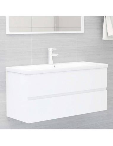 Spintelė praustuvui, baltos spalvos, 100x38,5x45cm, MDP   Vonios baldų komplektai   duodu.lt